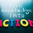 Turn knowledge into action — Stock Photo #22674119