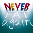 Never fat again concept — Stock Photo