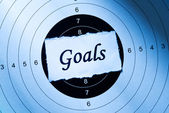 Goal concept — Stockfoto