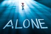 Alone concept — Stock Photo