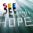 Stock Photo: See through hope