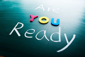 Are you ready? — Foto de Stock