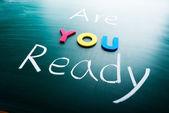 Estás listo? — Foto de Stock