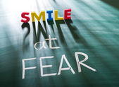 Smile at fear — Stock Photo
