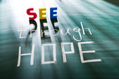 See through hope — Stock Photo
