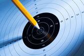 De pen hits de doelgroep — Stockfoto