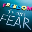 Freedom from fear - Stock Photo