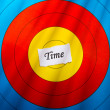 Target on time concept - Stock Photo
