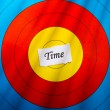 Stock Photo: Target on time concept
