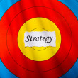 Target on strategy concept — Foto de Stock