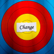 Stock Photo: Target on change concept