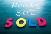 Ready, set, sold! — Stock Photo