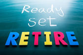 Ready, set, retire — Stock Photo
