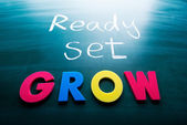 Ready, set, grow! — Stock Photo