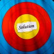 Target on solution — Stock Photo