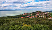 Landscape at lake Balaton,Hungary — Stock Photo