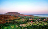 View to Lake Balaton from Szigliget,Hungary — Stock Photo