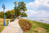 Promenade at Lake Balaton,Hungary — Stock Photo