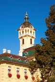 Tower-clock of town hall in Szeged,Hungary — Stock Photo