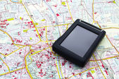 GPS on the map — Stock Photo