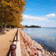 Stock Photo: Promenade at Lake Balaton, Hungary