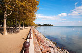 Promenade at Lake Balaton, Hungary — Stock Photo