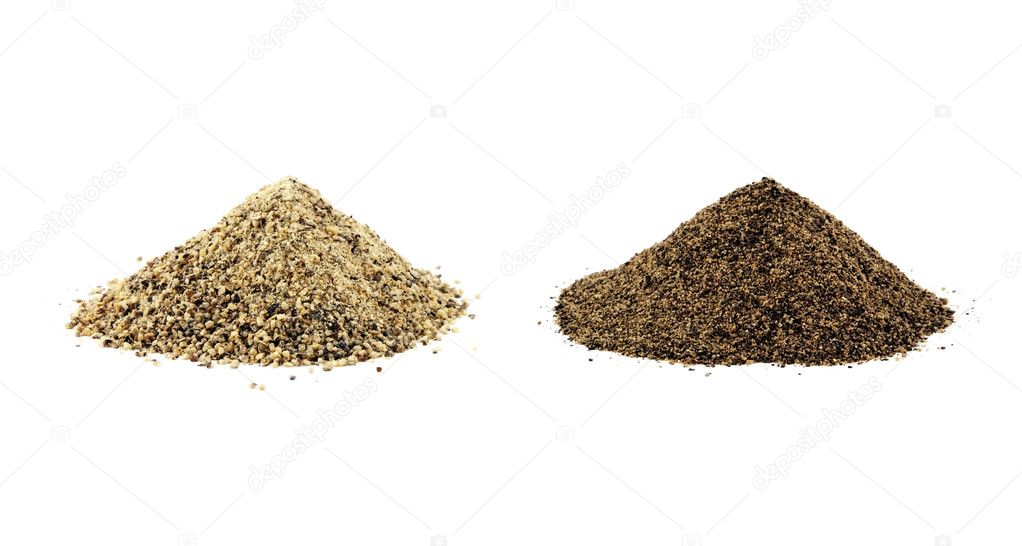 Ground Pepper Ground White Pepper And Black