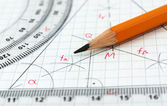 Geometry drawing detail — Stock Photo