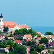 View to the benedictine abbey in Tihany, Hungary — Stock Photo