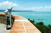 Panorama to Lake Balaton from Tihany Peninsula, Hungary — Stock Photo