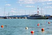 Harbor at Lake Balaton, Hungary — Stock Photo