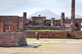 Pompeii. Town square — Stock Photo