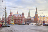 Moscow. New-year street — Stock Photo