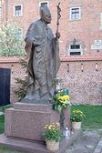 Escultura del papa juan pablo ii — Foto de Stock