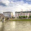 Bridge across the river Salzach — Stock Photo