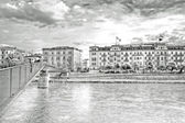 Bridge across the river Salzach — Stock Photo