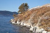 Lake is Baikal — Stock Photo