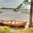 Stock Photo: Boat on lake Onega
