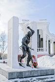 在城市萨兰斯克纪念 — 图库照片