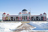 Железнодорожная станция — Стоковое фото