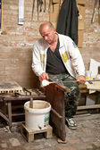 Glassblower at work — Stock Photo