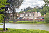 Coast the rivers Arno — Stock Photo