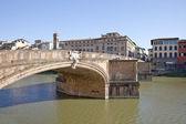Bridge across the river Arno — Stock Photo