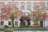 Salzburg eski bir manastır avlusunda — Stok fotoğraf
