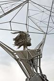 雕塑的片段是渔民 — 图库照片