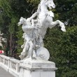 Vienna. Sculpture on the area of Maria Theresa — Stock Photo