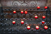 Candles are in a church — Stock Photo