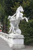Vienna. Sculpture on the area of Maria Theresa — Stock Photo