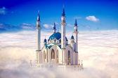 Kazan, mosque Qolsharif. Collage — Stock Photo