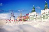 Kreml, collage — Zdjęcie stockowe